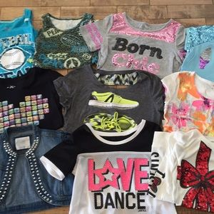 Girls Lot of Justice Size 12 Shirts Tanks